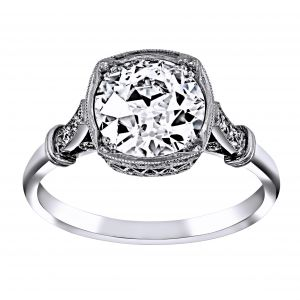 Single Stone Colette Bezel Set Diamond Engagement Ring