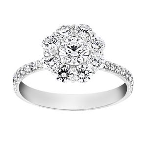TWO by London Diamond Flower Halo Engagement Ring