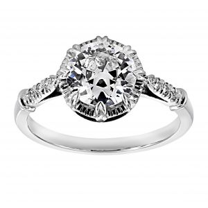 Single Stone Arielle Old European Cut Diamond Solitaire
