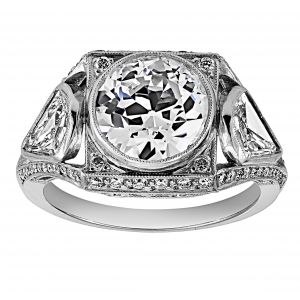 Single Stone Bailey Three Stone Diamond Ring