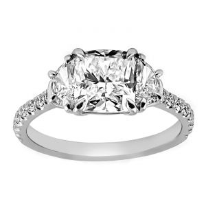TWO by London Three Stone Diamond Shank Engagement Ring