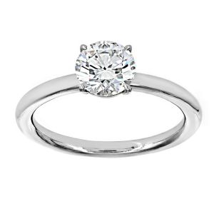 TWO by London Classic Four Prong Round Diamond Solitaire