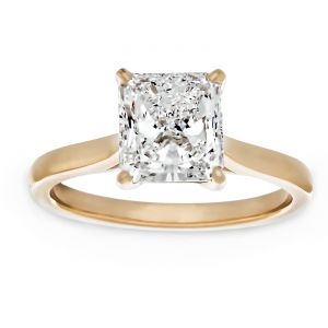 TWO by London Radiant Diamond Solitaire Engagement Ring