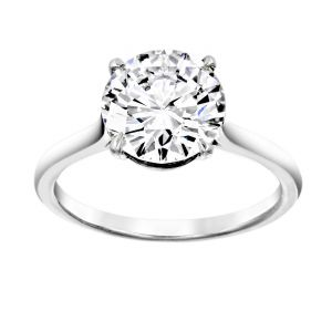 TWO by London Round Diamond Four Prong Solitaire Engagement Ring