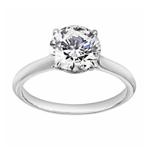 TWO by London Solitaire Round Diamond Engagement Ring