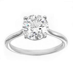 TWO by London Four Prong Round Solitaire Engagement Ring