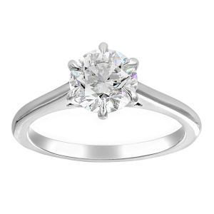 TWO by London Round Brilliant Diamond Solitaire Engagement Ring