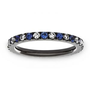 TWO by London Blue Sapphire And Diamond Wedding Band
