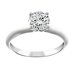 TWO by London Round Four Prong Solitaire Engagement Ring