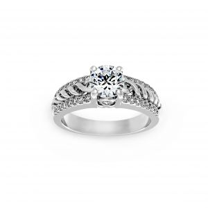 Ritani Twisted Diamond Shank Engagement Ring