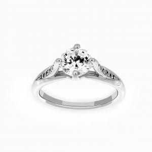 Ritani Vintage Tulip Diamond Band Engagement Ring