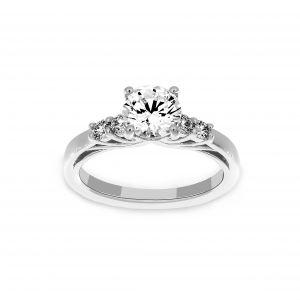 Ritani Round Diamond Classic Trellis Engagement Ring