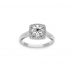 Ritani Cushion Halo Micro-Pave Engagement Ring
