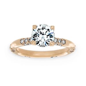 Michael B. Crown Lace Engagement Ring