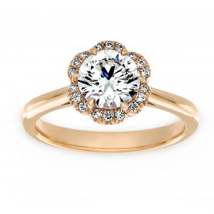 TWO by London Flower Diamond Halo Engagement Ring