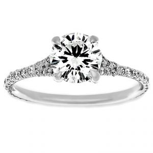 TWO by London Thin Split Shank Round Diamond Engagement Ring
