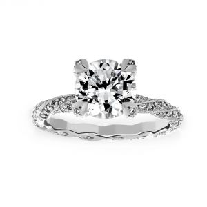 Michael B. Twist Infinity Solitaire Engagement Ring