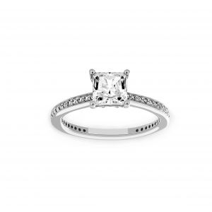 Ritani Princess Cut Micro-Pave Diamond Engagement Ring