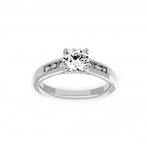 Ritani Channel Set Round Diamond Engagement Ring