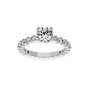 Ritani Round Solitaire Shared Single Prong Diamond Engagement Ring