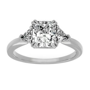 TWO by London Radiant Diamond Three Stone Engagement Ring