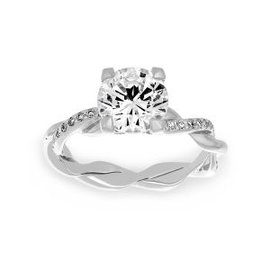 Michael B. Petite Infinity Solitaire Engagement Ring
