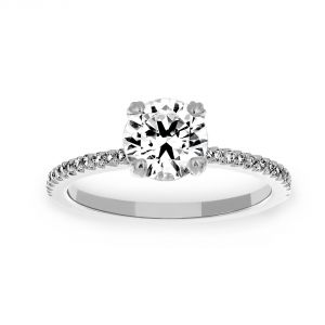 Michael B. Royal Princess Round Solitaire Engagement Ring
