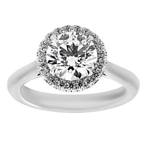 TWO by London Round Diamond Halo Classic Engagement Ring