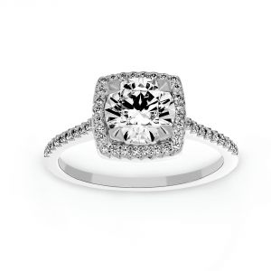 Michael B. Royal Cushion Engagement Ring