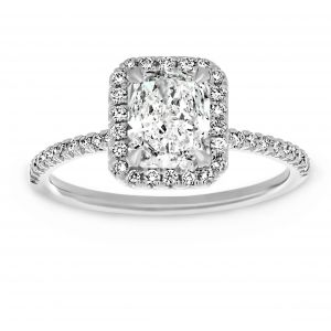 TWO by London Radiant Diamond Halo Engagement Ring