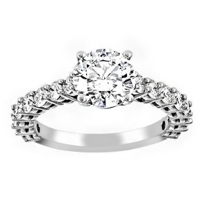 TWO by London Shared Prong Diamond Solitaire Engagement Ring