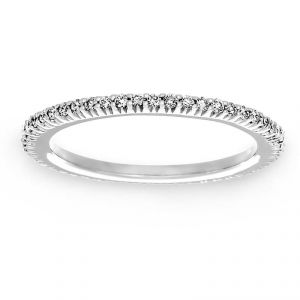 Ritani Open Micropave Diamond Eternity Wedding Band