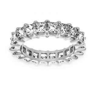 TWO by London Princess Cut Diamond Shared Prong Eternity Band