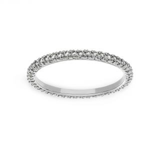 Michael B. Paris Pave Eternity Band