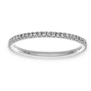 TWO by London Thin Pave Diamond Eternity Band