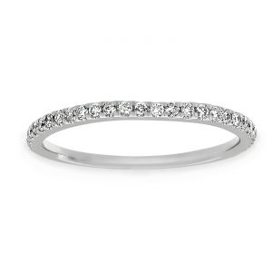 TWO by London Thin Pave Diamond Band