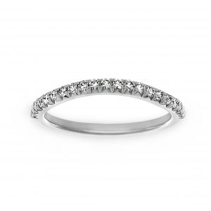 Henri Daussi Pave Diamond Wave Wedding Band