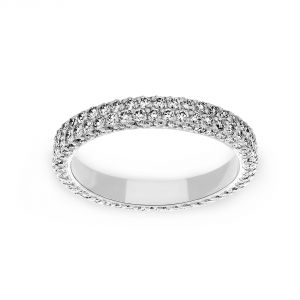 Michael B. Two Row Flatband Pave Diamond Eternity Band