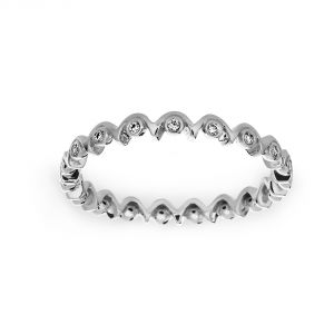 Michael B. Quintessa Squiggle Sideband Diamond Eternity Band