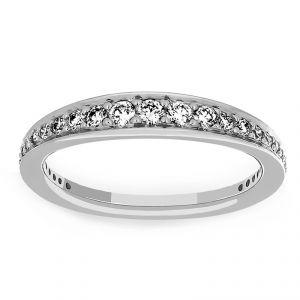 Ritani Tapered Channel Set Diamond Wedding Band