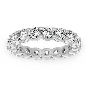 TWO by London Round Diamond Eternity Shared U Prong Band