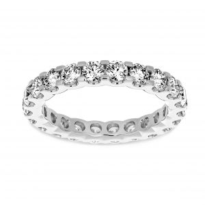 Henri Daussi Prong Set Diamond Eternity Band