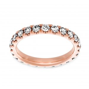 Henri Daussi Light Pink Diamond Eternity Band