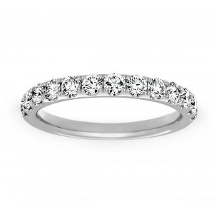 Henri Daussi Diamond Half Wedding Band