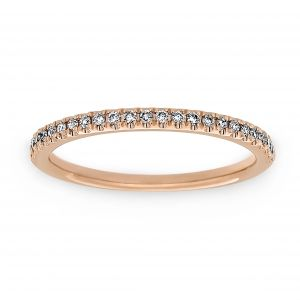 Henri Daussi Pave Diamond Half Wedding Band