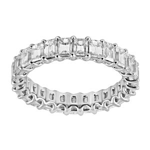 TWO by London Emerald Cut Shared Prong Diamond Eternity Band