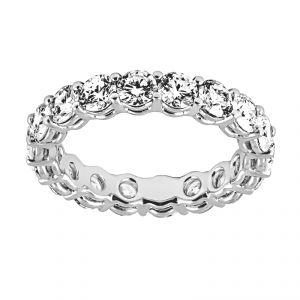 TWO by London Round Brilliant Cut Diamond Eternity Band