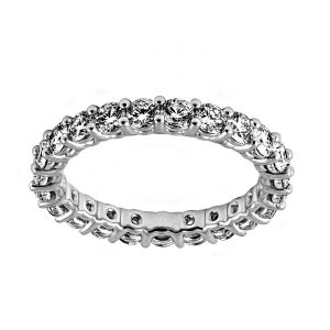 TWO by London Shared Prong Round Diamond Eternity Band