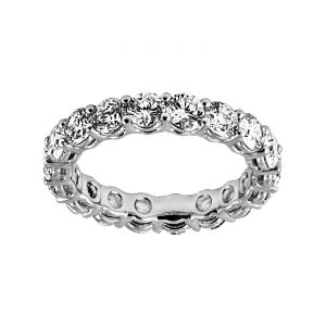 TWO by London Shared Prong Round Eternity Band