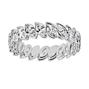 TWO by London Marquise Diamond Bezel Eternity Wedding Band